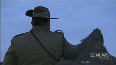 The Last Post is played every year at Anzac Day services. (9NEWS)