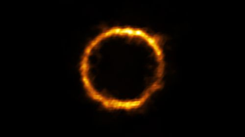 Astronomers using ALMA, have revealed an extremely distant galaxy that looks surprisingly like our Milky Way. The galaxy, SPT0418-47,  appears in the sky as a near-perfect ring of light.
