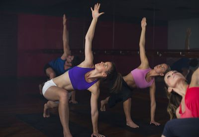 Hot flow yoga