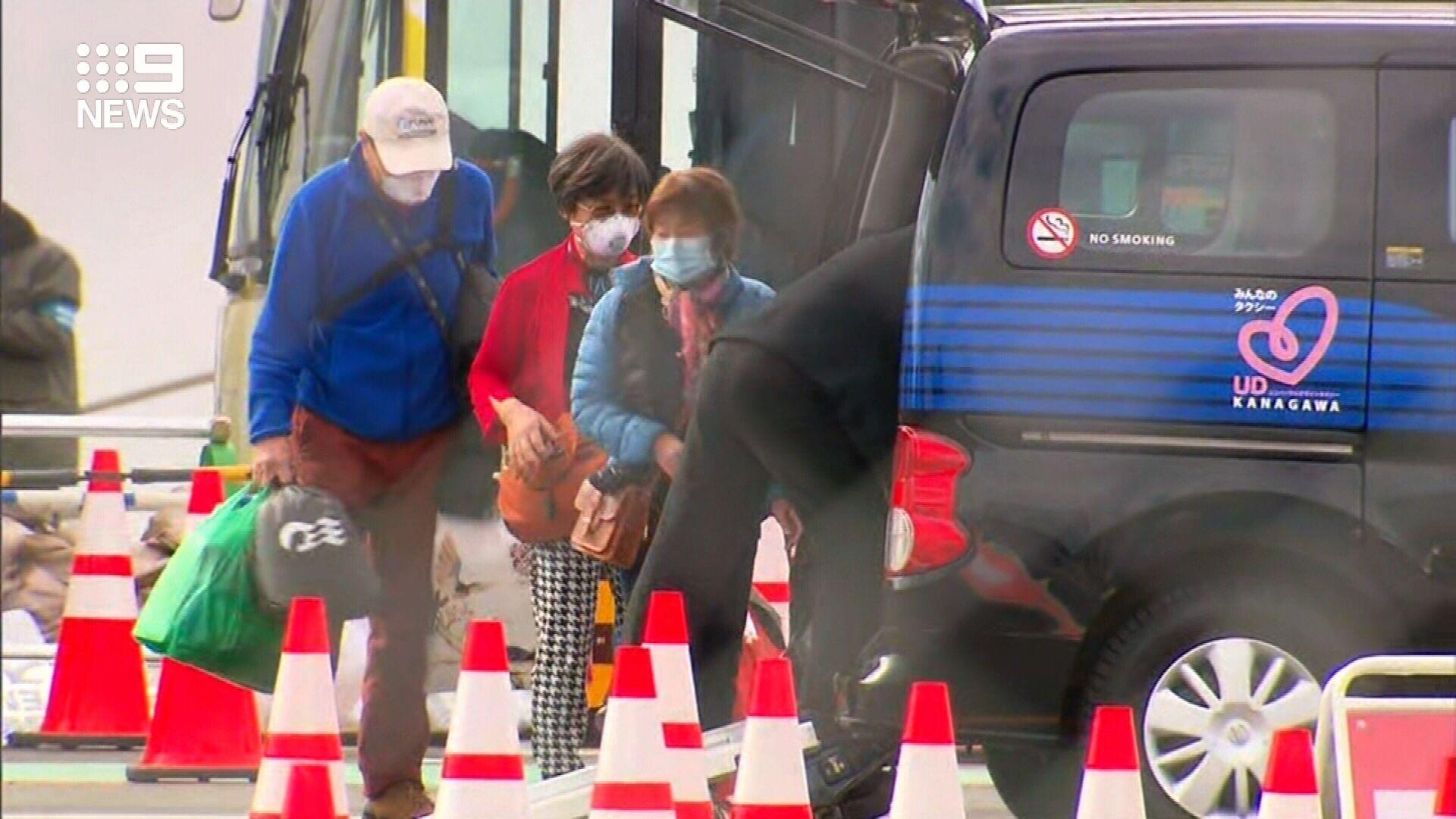 First passengers disembark from coronavirus cruise