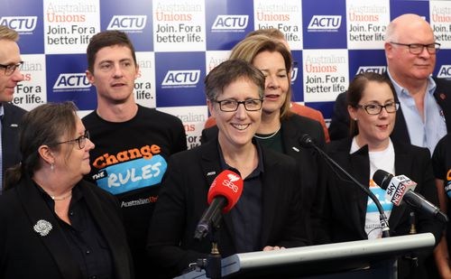 ACTU Secretary Sally McManus confirmed er party is looking at 14 seats in the upcoming election.(AAP Image/David Crosling)