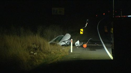 A passerby found the crashed car. (9NEWS)