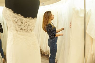 Carly taking her time to find the perfect dress