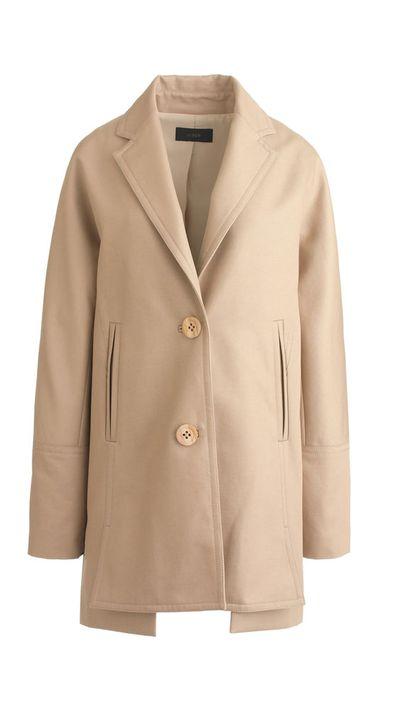 "<a href=""https://www.jcrew.com/au/womens_category/outerwear/cotton/PRDOVR~B9881/B9881.jsp""> Bonded Cotton Trench Coat, $500, JCrew</a>"