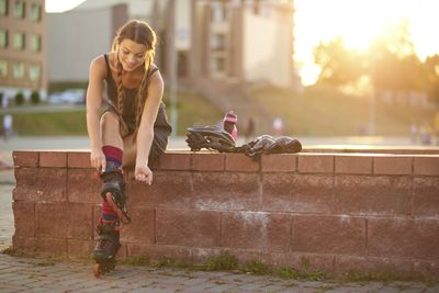 <strong>Roller blading</strong>