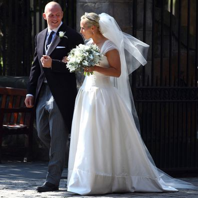 Mike Tindall and Zara Phillips on their wedding day in 2011.