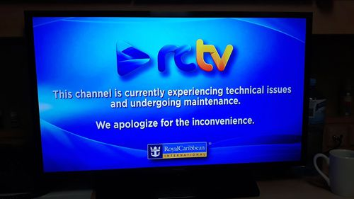 A crew member said all news channels were unavailable.