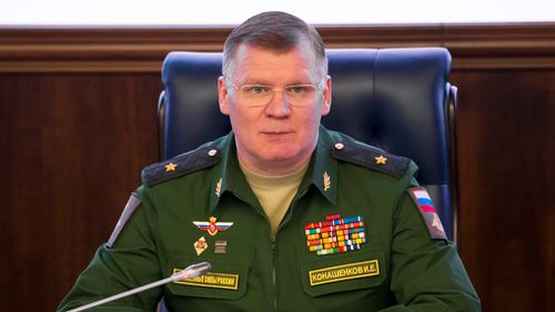 Russian Defense Ministry spokesman, Major General Igor Konashenkov. (AP)