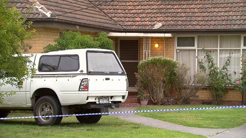 Forensic crews attended the Mulgrave home today to collect evidence. (9NEWS)