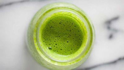 "Recipe: <a href=""http://kitchen.nine.com.au/2016/12/22/17/32/teresa-cutters-detoxifying-green-smoothie"" target=""_top"">Teresa Cutter's detoxifying green smoothie</a>"