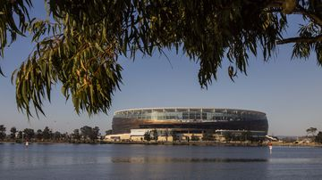 The stadium seen from East Perth. (AAP)