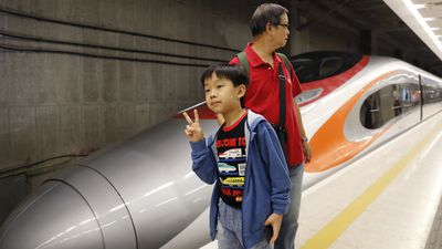 Hong Kong launches 200km/h bullet train