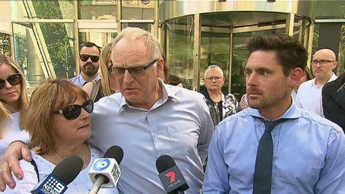 Mr Goland's family spoke outside court today.