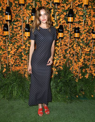 Isabel Lucas arrives at the 9th Annual Veuve Clicquot Polo Classic event in Los Angeles, October 6, 2018