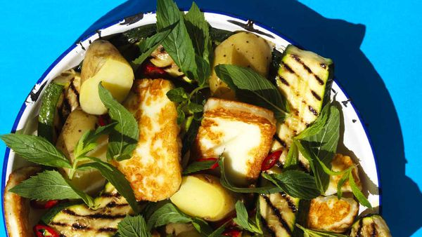 Spicy haloumi and potato salad recipe by We Love Our Lamb