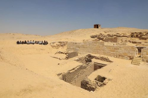 View of the excavation site. Picture: Ministry of Antiquities