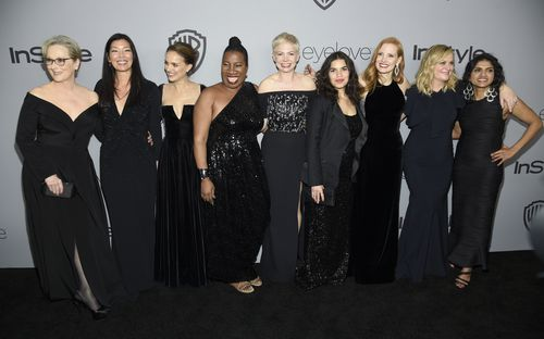 Tarana Burke with other high-profile #MeToo activists.