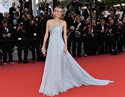 <p>Diane Kruger in&nbsp;Christian Dior at the screening of the film 'Sink Or Swim' at the 71st Cannes Film Festival,  May, 2018.</p>