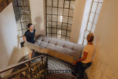 Moving furniture: 340 calories an hour