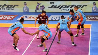 Kabaddi is a little like football without the ball, crossed with red-rover. An unusual feature of the sport is that players yell 'Kabaddi, Kabaddi' while playing the game.