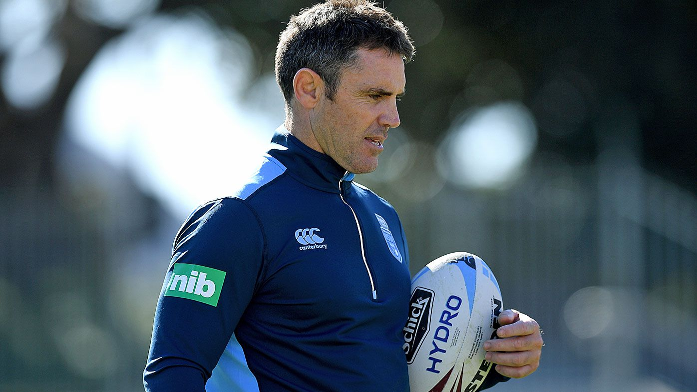 Brad Fittler at Blues training