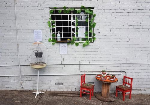 Rick Everett's streetside cafe offering free coffees have been embraced by the neighbourhood.