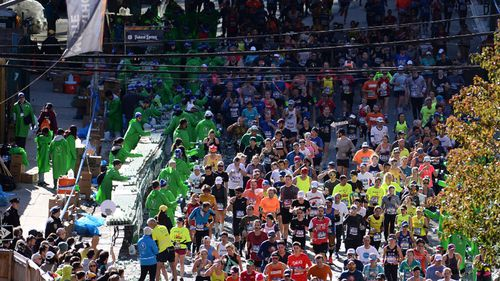 The New York City Marathon attracted thousands of runners.