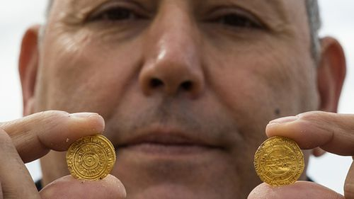 The Israeli Antiquities Authority declined to put a cash value on the coins. (Getty)