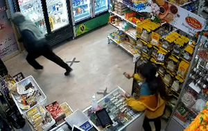 Knife-wielding woman chases would-be thief out of her store