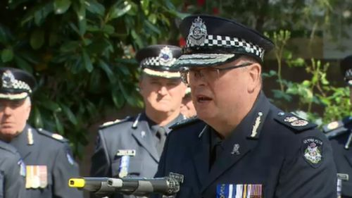 Chief Commissioner Graham Ashton spoke at the service.