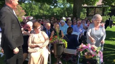 92-year-old is flower girl for granddaughter's wedding