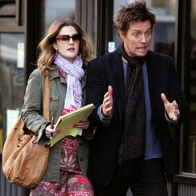 Drew Barrymore and Hugh Grant On Set of ''Music and Lyrics''