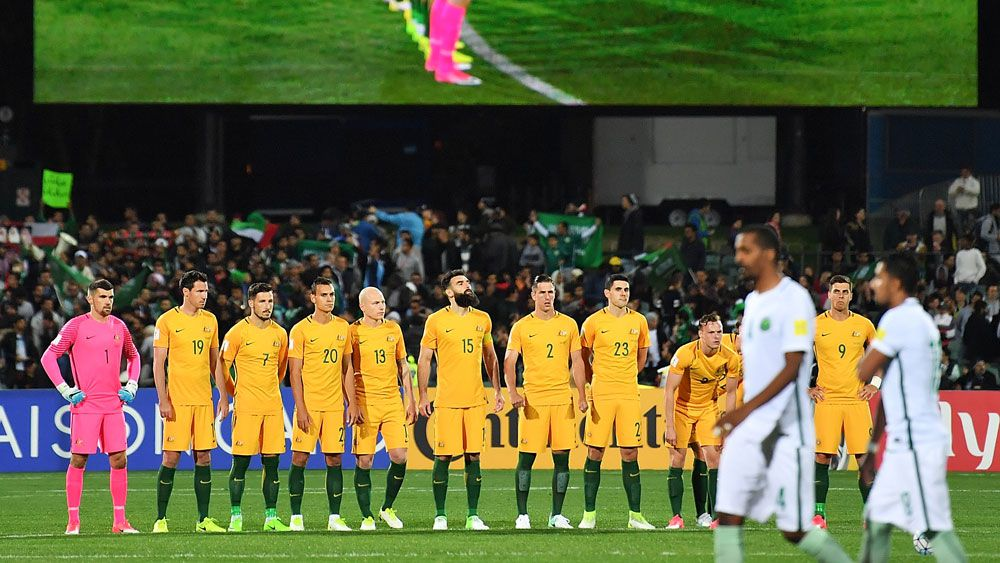 Socceroos and Saudi Arabian players.