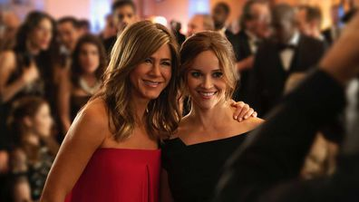 Jennifer Aniston and Reese Witherspoon on Apple's new TV show, The Morning Show