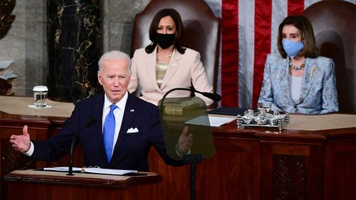Joe Biden gives his first address to Congress after his first 100 days in office.