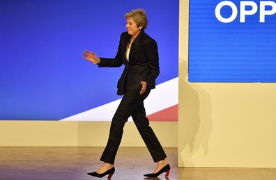 Theresa May went viral when she performed an odd dance as she arrived to address the delegates on the third day of the Conservative Party Conference in Birmingham, Britain, in October.