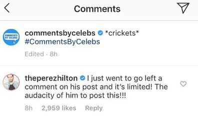 Perez Hilton slams Tristan Thompson comment