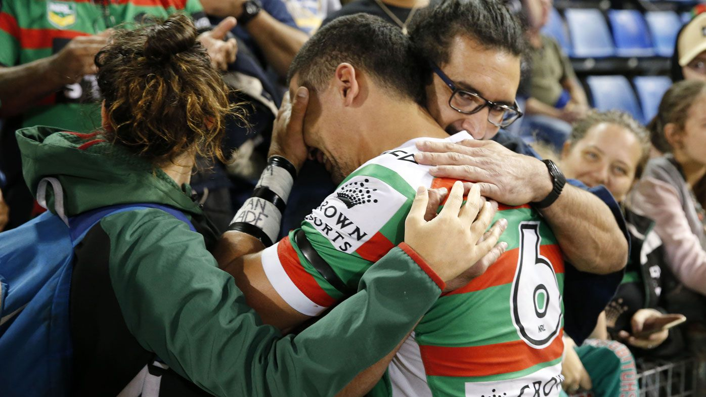 South Sydney's Cody Walker does it in honour of late mother after starring in Newcastle Knights win