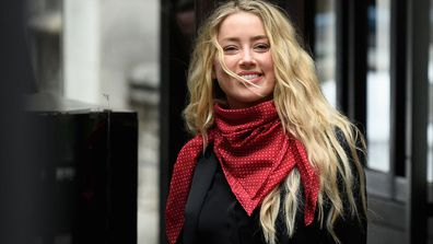 Actress Amber Heard arrives at the Royal Courts of Justice, Strand on July 16, 2020 in London, England