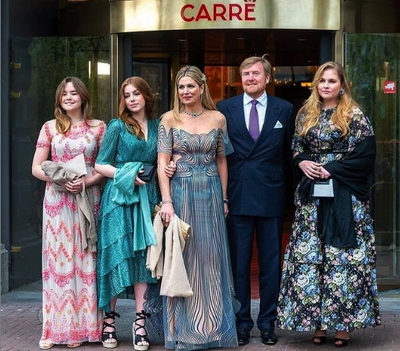 Dutch royals step out for a night on the town