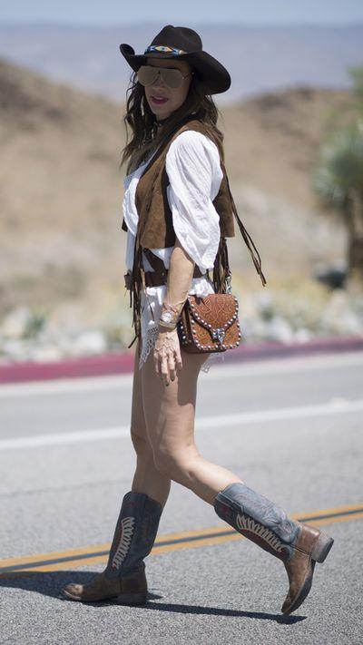Timea Yajna at Coachella.
