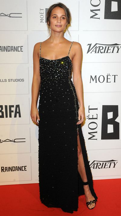 "The attendees of this year's British Independent Film Awards clearly got our&nbsp;<a href=""http://honey.ninemsn.com.au/2015/11/27/15/04/sequin-and-glitter-party-dresses-tops-skirts-and-jumpsuits"" target=""_blank"">party dressing memo</a>, because sequinned and metallic gowns ruled the red carpet. Click through to see all the looks, and take some inspiration for a Saturday night spent dancing to Ms Houston."