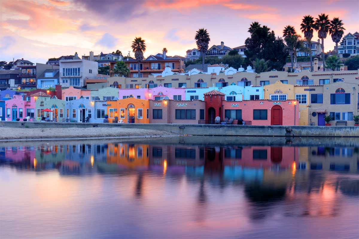 Colouful houses of Capitola, Santa Cruz