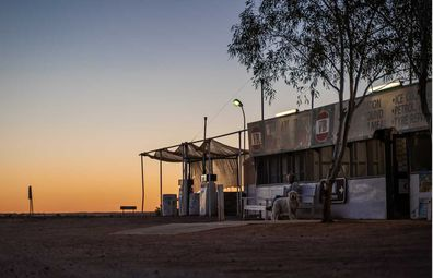 William Creek Hotel at sunset