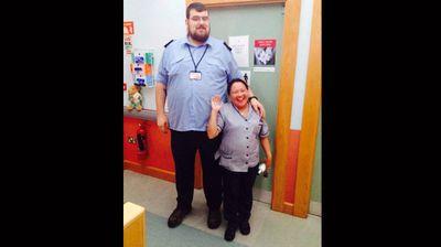 John Þor O'Brien and his nursing colleague. (Facebook)