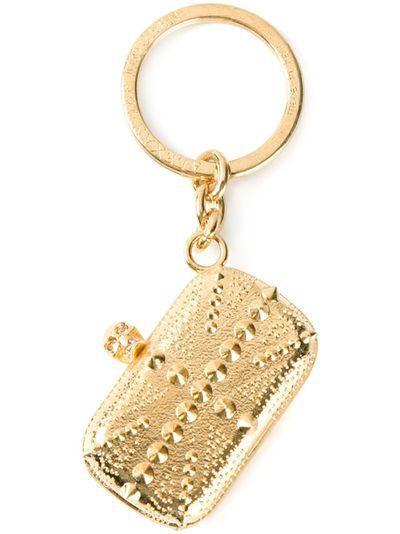 "<a href=""http://www.matchesfashion.com/au/products/Alexander-McQueen-Britannia-key-ring-1000975"" target=""_blank"">Keyring, $125, Alexander McQueen at Matchesfashion.com</a>"