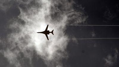 Bombers are frequently seen conducting air raids in the area. (AFP)