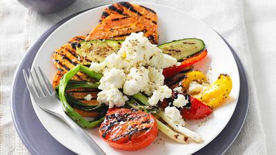 "Recipe: <a href=""http://kitchen.nine.com.au/2017/05/09/16/55/chargrilled-vegetables-with-ricotta-and-fennel-salt"" target=""_top"">Chargrilled vegetables with ricotta and fennel salt</a>"