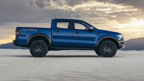 The Raptor boasts 157kW of power and is designed to be an off-road beast. (Ford)