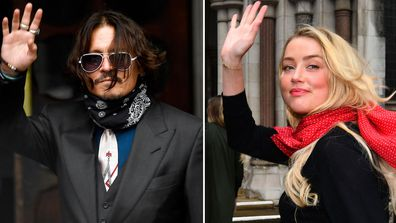 Johnny Depp, Amber Heard arrive at the High Court in London, Wednesday July 8, 2020